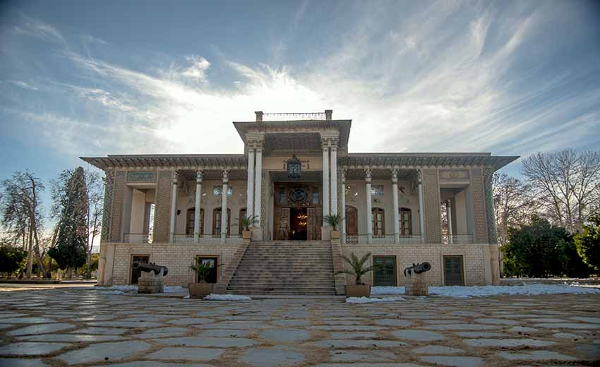 نمایی از باغ عفیف آباد شیراز