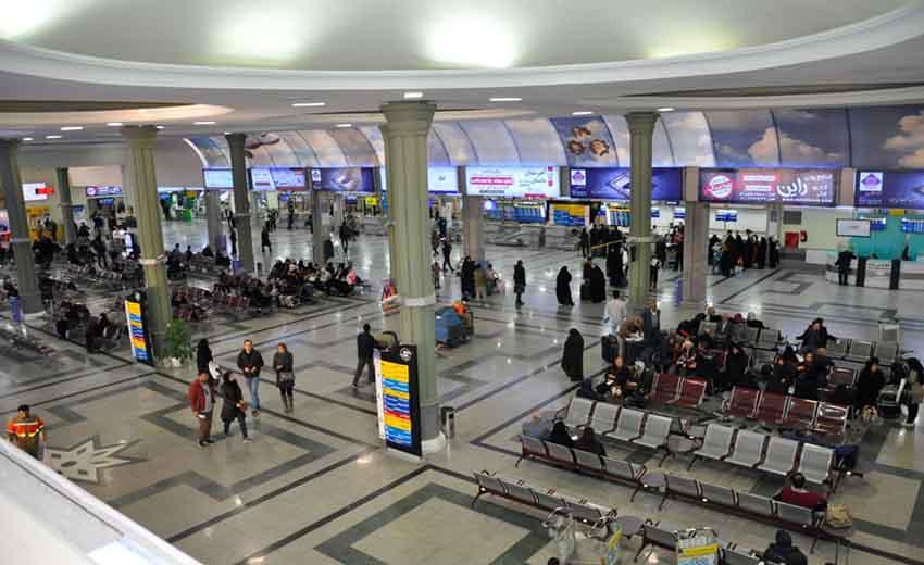نمای از داخل فرودگاه شهید بهشتی اصفهان