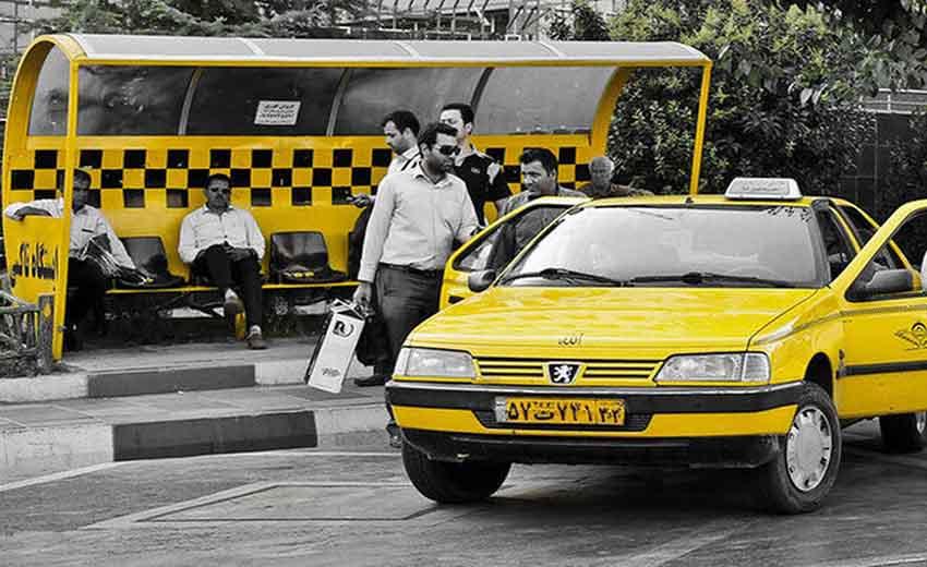 نمایی از تاکسی های شیراز