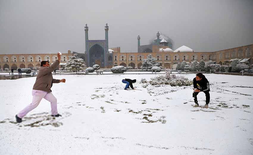 زمستان های اصفهان
